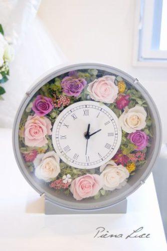 お花の時計 新築祝に